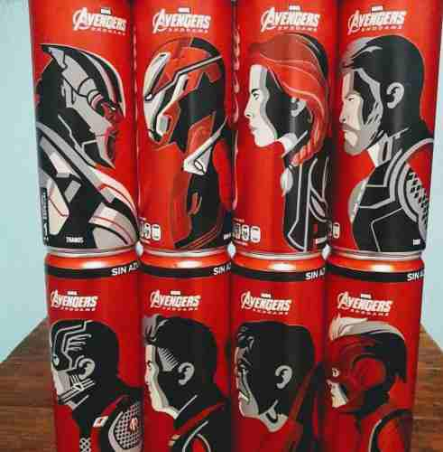 Colección Coca Cola Avengers End Game
