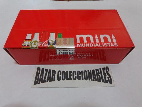 Coleccion Mini Mundialista Coca Cola 24 Botellitas Cerradas
