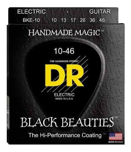 Dr Strings Cuerdas Negras Guitarra Eléctrica, Black
