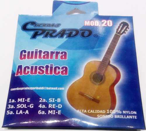 Encordado Para Guitarra Acústica De Nylon Prado Mod.20