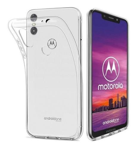 Funda Jelly Case + Mica Cristal Motorola Moto One / P30 Play