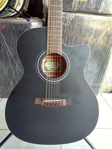 Guitarra Texana Acústica C/resaque Negro Mate Sgg118acbkl)