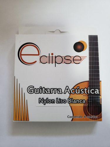 Juego De Cuerdas Para Guitarra Acustica Con Nylon Blanco