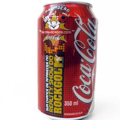 Lata Antigua Brasil 2005 Mtv Rockgol Coca Cola 350ml
