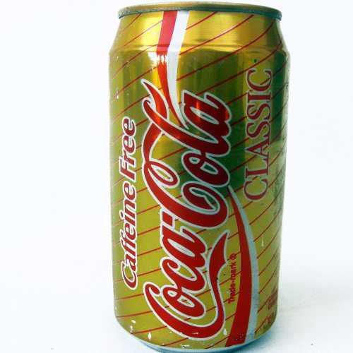 Lata Antigua Estados Unidos 90's Coca Cola Caffeine Free