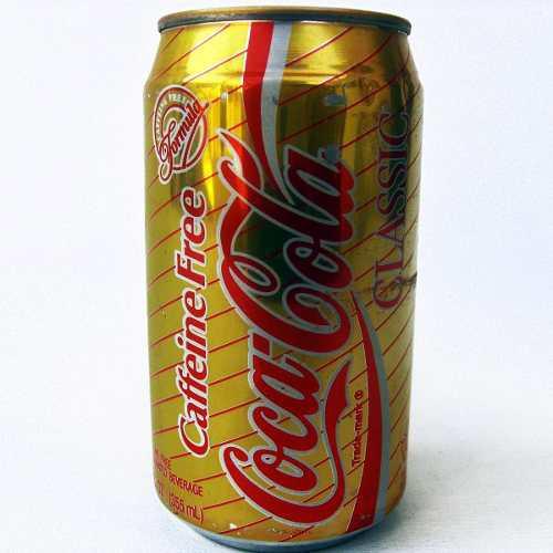 Lata Antigua Estados Unidos 90's Coca Cola Caffeine Free Tx