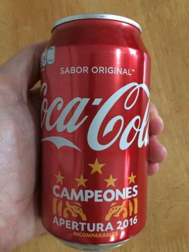 Lata Coca Cola 355 Ml Tigres Campeón 5 Estrellas 2016