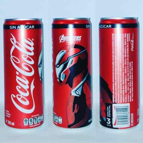 Lata De Coca Cola Avengers End Game Iron Man