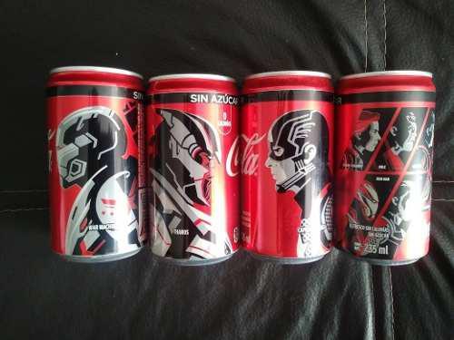 Latas Avengers End Game 235 Ml. Coca Cola Sin Azucar