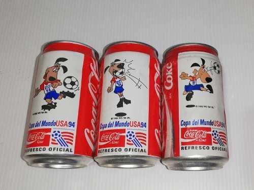 Latas Coca Cola Mundial Usa 94 - Stryker