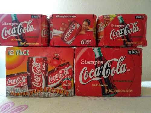 Latas En Carton De Six Y 12 Pack Coca Cola