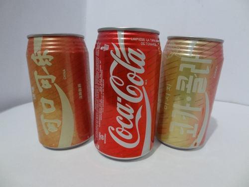Lote 3 Pz El Mundo Coca Cola Vintage Corea China Egipto
