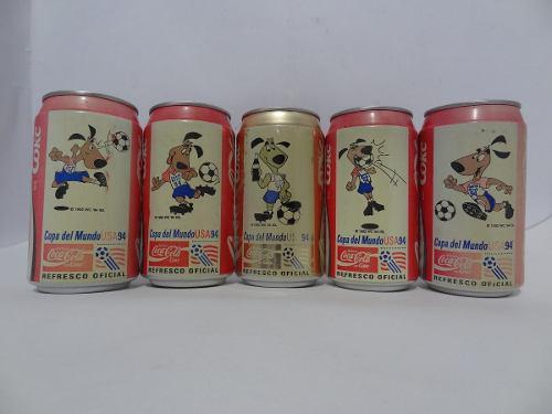 Lote 5 Pz Latas Coca Cola Copa Del Mundo Usa 94