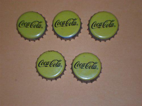 Lote Corcholatas Amarillas Coca Cola