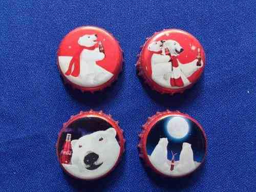 Lote De 4 Corcholatas Navideñas De Coca Cola