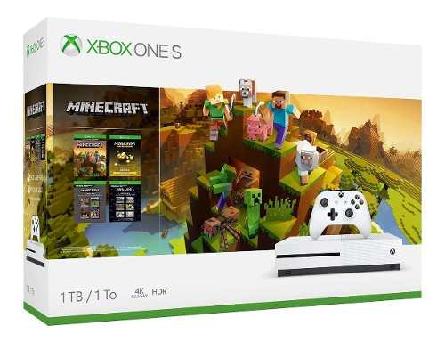 Microsoft Xbox One S 1tb Minecraft Bundle Blanco 1 Control
