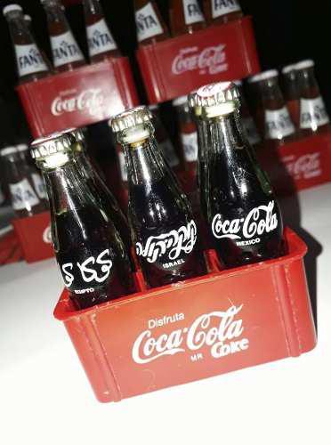 Mini Botellitas De Cristal De Coca Cola, Fanta Y Sprite.