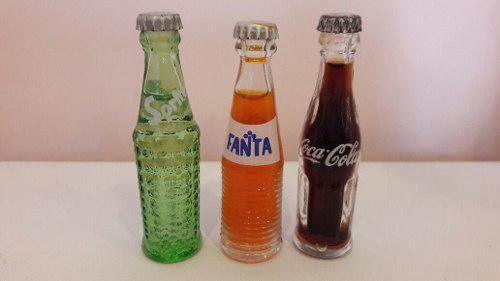 Mini Coca Cola Fanta Y Sprite. Coleccionables Miniatura