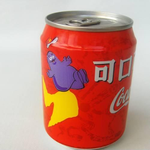 Mini Lata Antigua Taiwan 2001 Mcdonalds Grimace Coca Cola