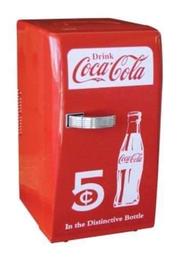 Mini Refrigerador Retro Coca Cola Ccr-12 Rojo 18 Latas