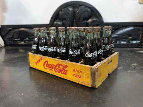 Mini Reja Coca-cola Antigua De Madera