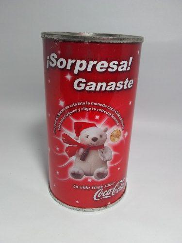 Oso En Lata Coca Cola 10cm Del 2001 + Envío Gratis
