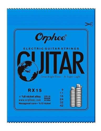 Pack 6 Cuerdas Orphee Guitarra Electrica Rx-15 Set Envio Gra