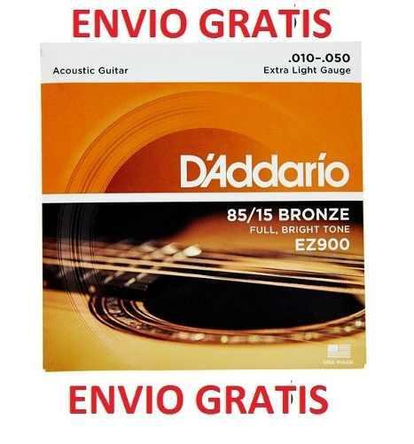 Paquete Cuerdas Guitarra Acustica 85/15 D Addario Ez900