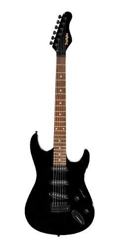 Paquete De Guitarra Electrica Negra Smithfire Smi111-pack