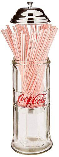 Porta Popotes Diseño De Vidrio De Coca Cola Coleccionable