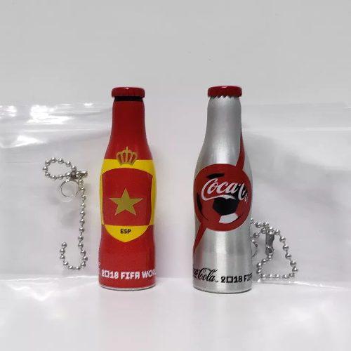 Set 2 Botellitas Mini Mundialistas Coca Cola Esp Mcdonald's