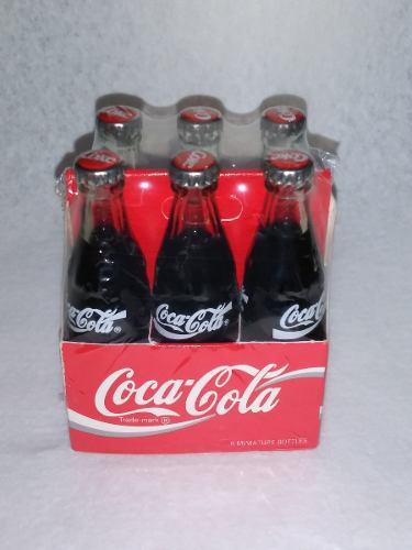 Set 6 Botellitas Coca Cola / Cajita De Carton - Nuevo