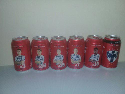 Set 6 Latas Coca Cola Monterrey No Tigres