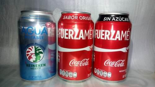 Set Latas Sismo 19 Septiembre 17 / 19s Coca Cola / Heineken