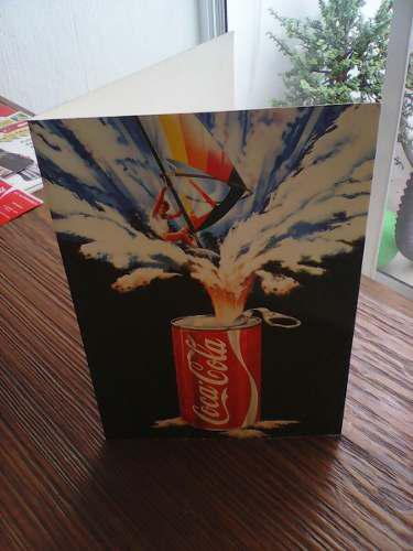 Tarjeta De Publicidad De Coca Cola Para Coleccionistas