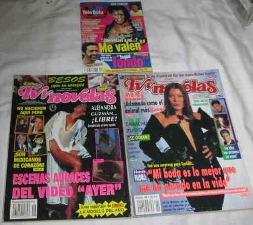 Alejandra Guzman. Lote De 3 Revistas Tvynovelas, Tele-guia