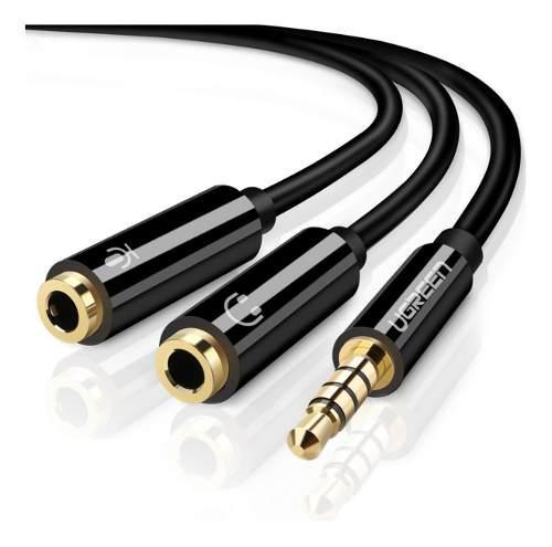 Cable Adaptador De Headset Macho Para Microfono Y Audifono