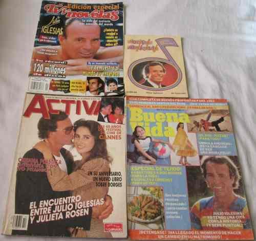 Julio Iglesias. Lote De 4 Revistas, Buena Vida, Activa