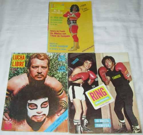Lote De 3 Revistas De Box Y Lucha Libre. 70´s Y 80´s