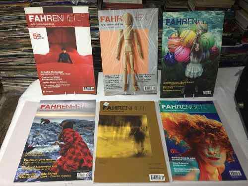 Lote De 6 Revistas Fahrenheit De Arte Contemporáneo