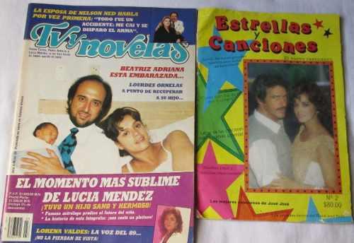 Lucia Mendez. Lote De 2 Revistas. Tvynovelas, Estrellas