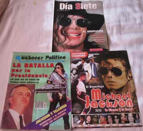 Michael Jackson En Lote De 3 Revistas.