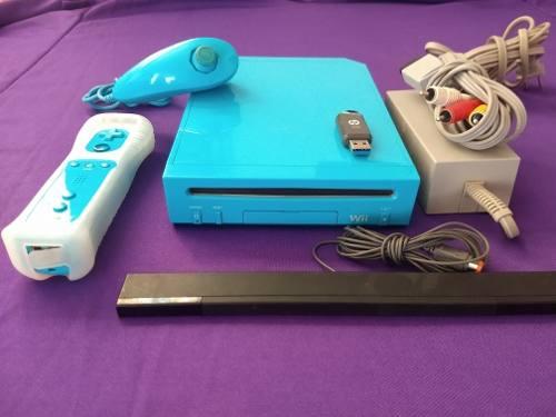 Nintendo Wii 128gb Azul Con Juegos Excelente Estado