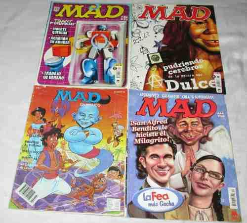 Revistas Mad, Lote De 4 Revistas