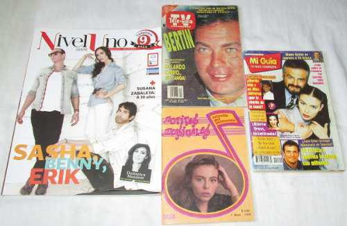 Sasha. Lote De 4 Revistas. Mi Guia, Nivel Uno, Notitas, Tele