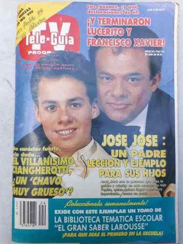 Teleguia José José Y José Joel Junio De 1990 Día Del