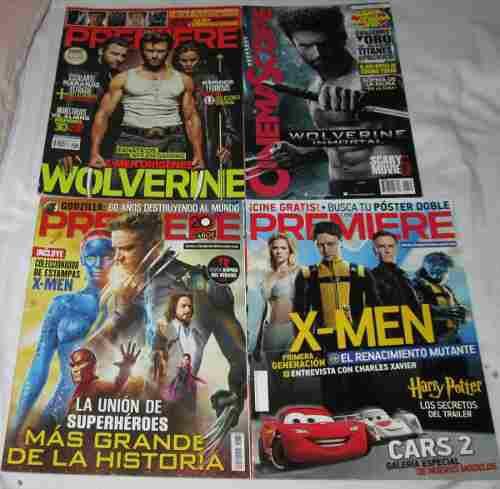 X Men, Wolverine. Lote De 4 Revistas Cine Premiere