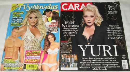 Yuri Lote De 2 Revistas, Tvynovelas, Caras