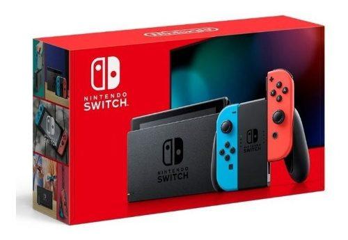 Consola Nintendo Switch Gris Neon 32gb Control Joy-con