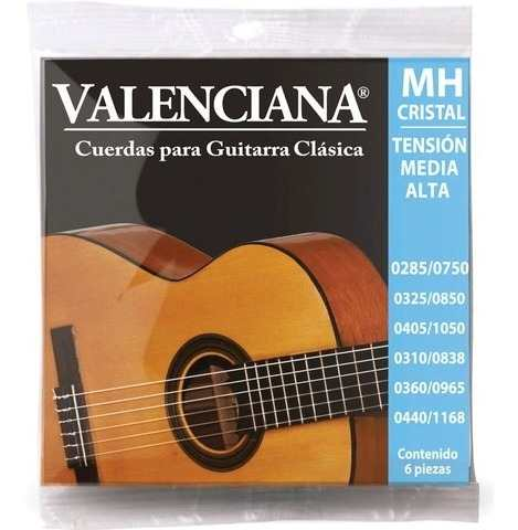 Encordado La Valenciana Guitarra Clásica Nylon Vags-430mac